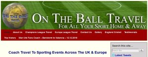 On The Ball travel Home Page